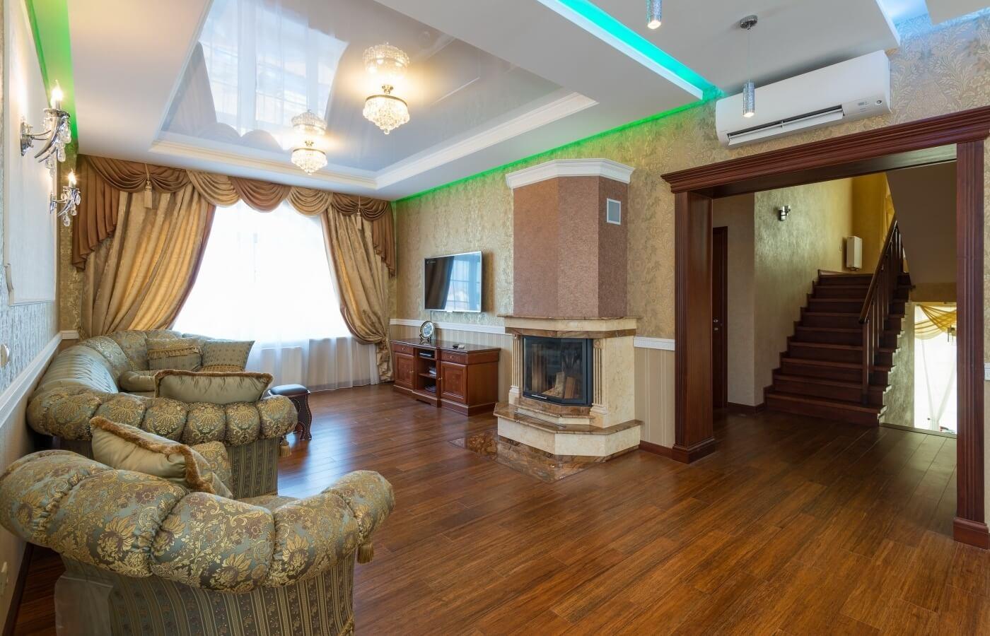 дом под ключ фото комнат резьба узор розетки